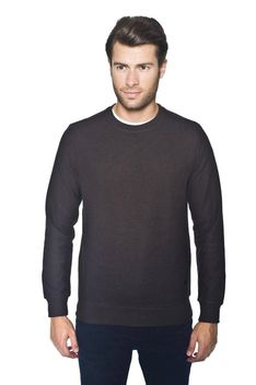 Sweter brązowy typu round-neck Recman JARAMA 0001