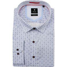 Koszula męska Rey Jay w abstrakcyjne wzory niebieska