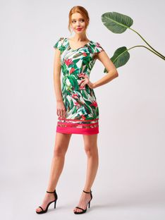 Sukienka w kwiaty ze szlakiem Smashed Lemon 20139