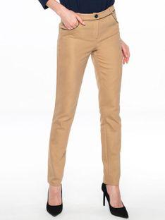 Spodnie rurki w kolorze camel Potis & Verso BIANCA