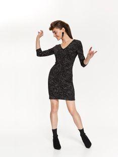 Dopasowana sukienka z odkrytymi plecami