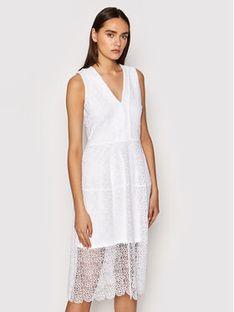 MICHAEL Michael Kors Sukienka koktajlowa MS1803Y1D0 Biały Regular Fit