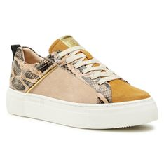 Sneakersy BUGATTI - 412-88302-3418-5083 Yellow/Reptile Print