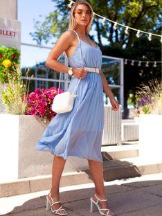 Sukienka damska 023DLR - jasnoniebieska