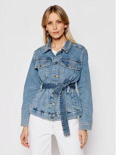 My Twin Kurtka jeansowa 202MP2070 Niebieski Regular Fit
