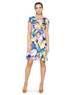 Satynowa sukienka w kwiaty Potis & Verso ISSORIA