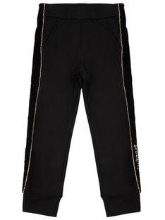 TwinSet Spodnie dresowe 192GJ2222 D Czarny Regular Fit