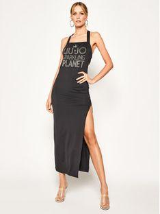 Liu Jo Beachwear Sukienka letnia VA0050 J5933 Czarny Regular Fit