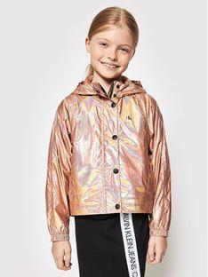 Calvin Klein Jeans Kurtka przejściowa Metallic Shine IG0IG00905 Złoty Regular Fit