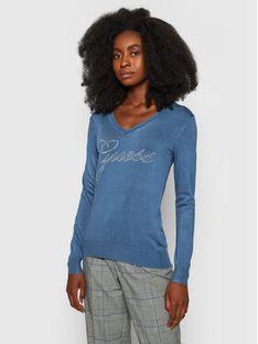 Guess Sweter Doriane W1YR0O Z2NQ0 Granatowy Regular Fit