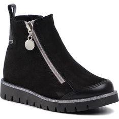 Buty zimowe dziecięce Bartek na zamek bez wzorów trzewiki