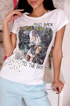 T-shirt damski NEOLINA WHITE