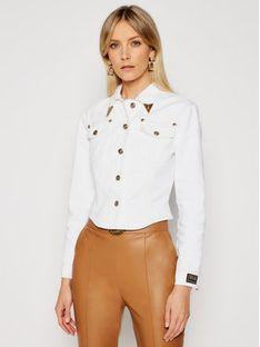 Versace Jeans Couture Kurtka jeansowa C0HWA90I Biały Regular Fit