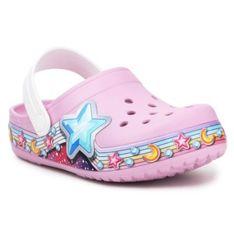 Klapki Crocs Fl Star Band Clog Jr 207075-6GD różowe