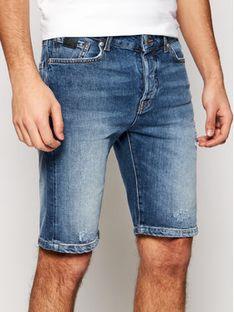 John Richmond Szorty jeansowe Bermuda RMP21141BE Niebieski Regular Fit