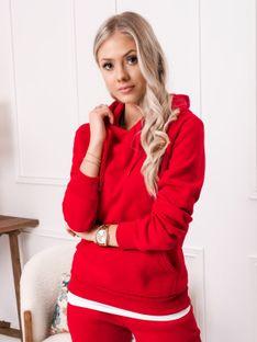 Bluza damska z kapturem 002TLR - czerwona