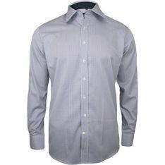 Koszula męska bez wzorów z długim rękawem