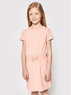 Polo Ralph Lauren Sukienka codzienna Play 312837203007 Pomarańczowy Regular Fit