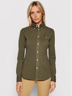 Polo Ralph Lauren Koszula 211664427008 Zielony Regular Fit