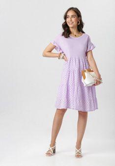 Jasnofioletowa Sukienka Maileora