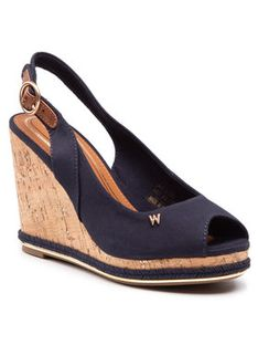 Wrangler Sandały Panama Raval WL11651A Granatowy