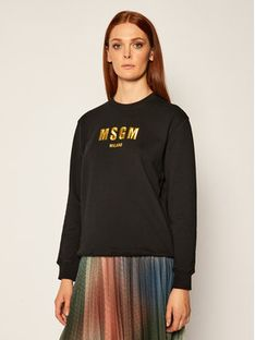 MSGM Bluza 2941MDM194 207799 Czarny Regular Fit