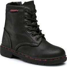 Buty zimowe dziecięce Kappa gładkie sznurowane