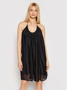 Drivemebikini Sukienka plażowa Terra 2021-DRV-025_GR Czarny Relaxed Fit