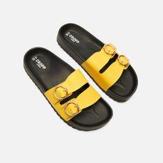 Cropp - Klapki z metalową sprzączką - Żółty