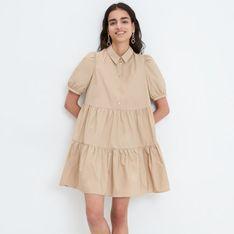 Mohito - Sukienka z falbanami - Beżowy