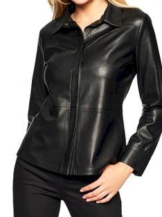 Czarna koszula z eko skóry Rino & Pelle TANNER.750W20