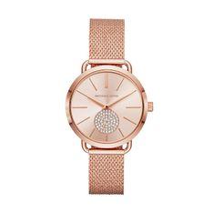 Zegarek MICHAEL KORS - Portia MK3845 Rose Gold/Rose Gold