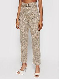 Guess Spodnie materiałowe Joy W1GB05 W5DX2 Beżowy Relaxed Fit