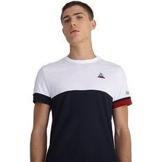 T-shirt męski Le Coq Sportif z krótkim rękawem bez wzorów