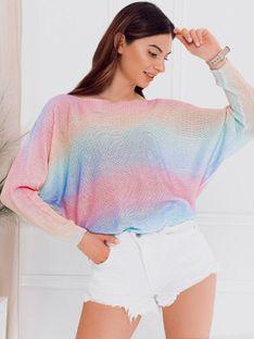 Sweter damski 009ELR - różowy