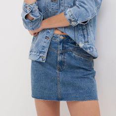 Sinsay - Jeansowa spódnica mini - Niebieski