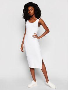 Calvin Klein Jeans Sukienka codzienna J20J216177 Biały Slim Fit