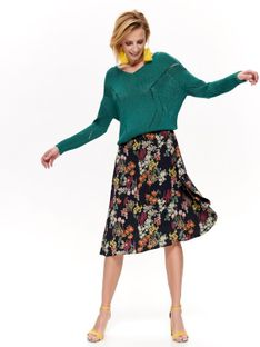 Spódnica o modnym fasonie w kwiaty
