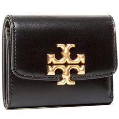 Mały Portfel Damski TORY BURCH - Elenor Compact Wallet 73519 Black 001