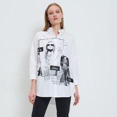 Mohito - Koszula z nadrukiem Eco Aware - Biały
