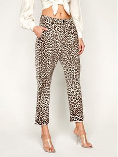 One Teaspoon Jeansy Relaxed Fit Animal Steetwalkers 23062 Brązowy Relaxed Fit