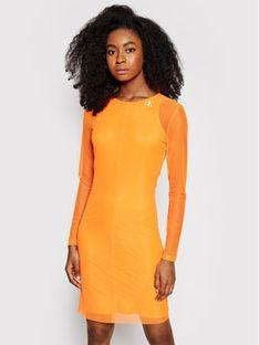 Calvin Klein Jeans Sukienka letnia J20J215666 Pomarańczowy Slim Fit