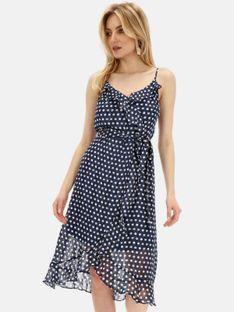 Sukienka w groszki na ramiączkach Smashed Lemon