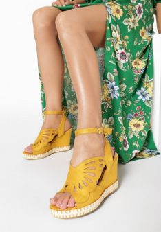 Żółte Sandały Kallinoire
