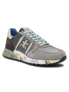 Premiata Sneakersy Lander 4586B Szary