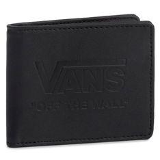 Duży Portfel Męski VANS - Logo Walle VN0A3IHEBLK1 Black