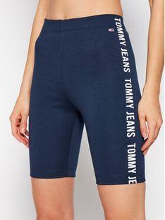 Tommy Jeans Szorty sportowe Tjw Branded Bike DW0DW09756 Granatowy Slim Fit