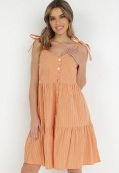Pomarańczowa Sukienka Nesareisis