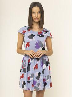 Emporio Armani Sukienka letnia 3H2A85 2NXUZ F808 Fioletowy Regular Fit