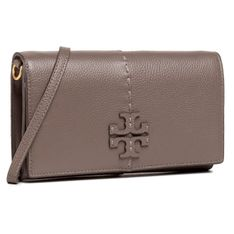 Torebka TORY BURCH - McGraw Wallet Crossbody 64502 Silver Maple 963